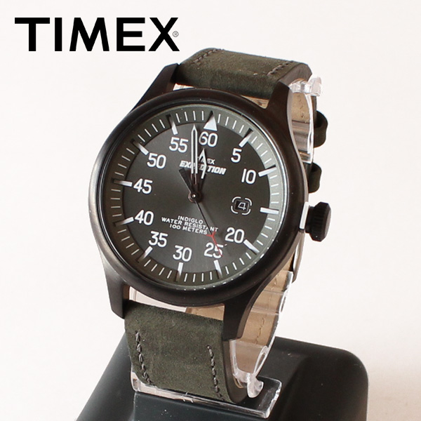 【即納】【送料無料】TIMEX タイメックス 腕時計 ウォッチ エクスペディションミリタリーフィールド ダークグリーン