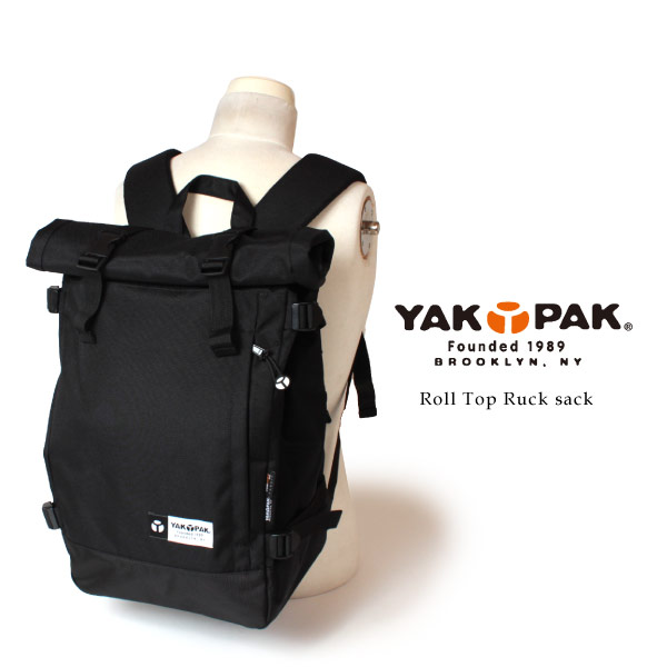 (ヤックパック) YAKPAK ロールトップ リュックサック デイパック メンズ レディース