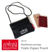 (マンハッタンポーテージ) Manhattan Portage サコッシュ ショルダーバッグ Triple Zipper Pouch MPTZP