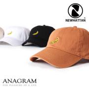 (アナグラム) ANAGRAM 別注 Newhattan ニューハッタン ローキャップ 帽子 バナナ刺繍
