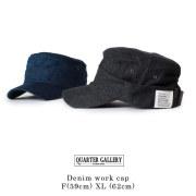 (クオーターギャラリー) QUARTER GALLERY デニムワークキャップ 大きいサイズ 帽子 F[59cm] XL[62cm] ANAGRAM アナグラム