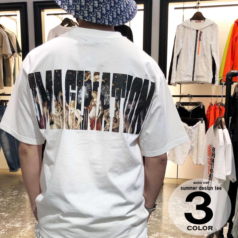絵画ロゴTシャツ