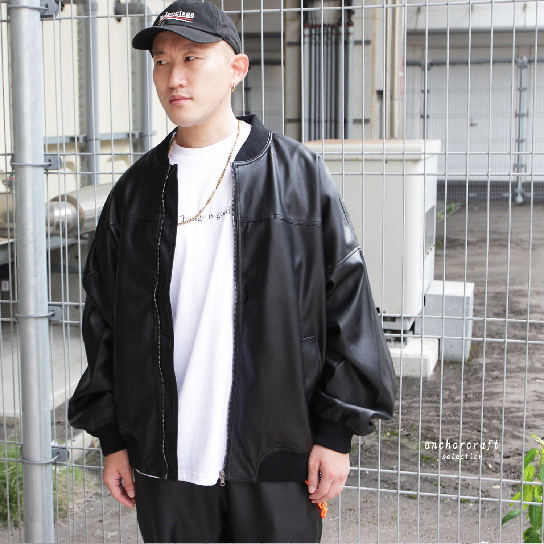 PUバルーンシルエットボマージャケット