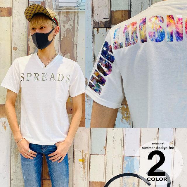 オーロラ箔アーチロゴV/N Tシャツ
