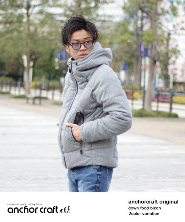 ボリュームフード中綿ストレッチジャケット