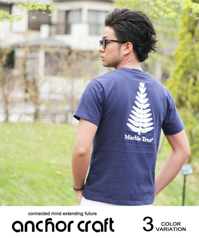 デニムPtサガラ刺繍Tシャツ