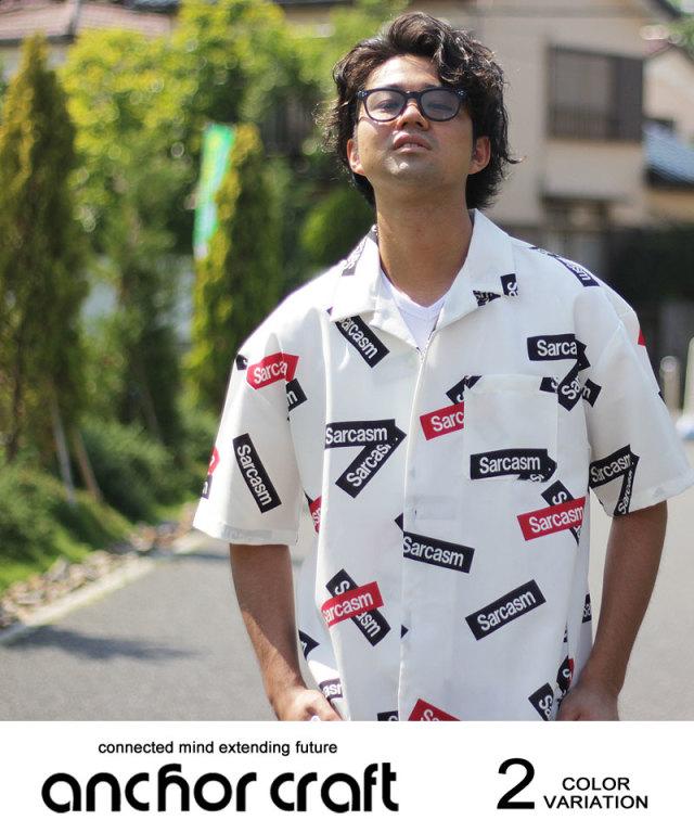 BOXロゴプリントオープンシャツ