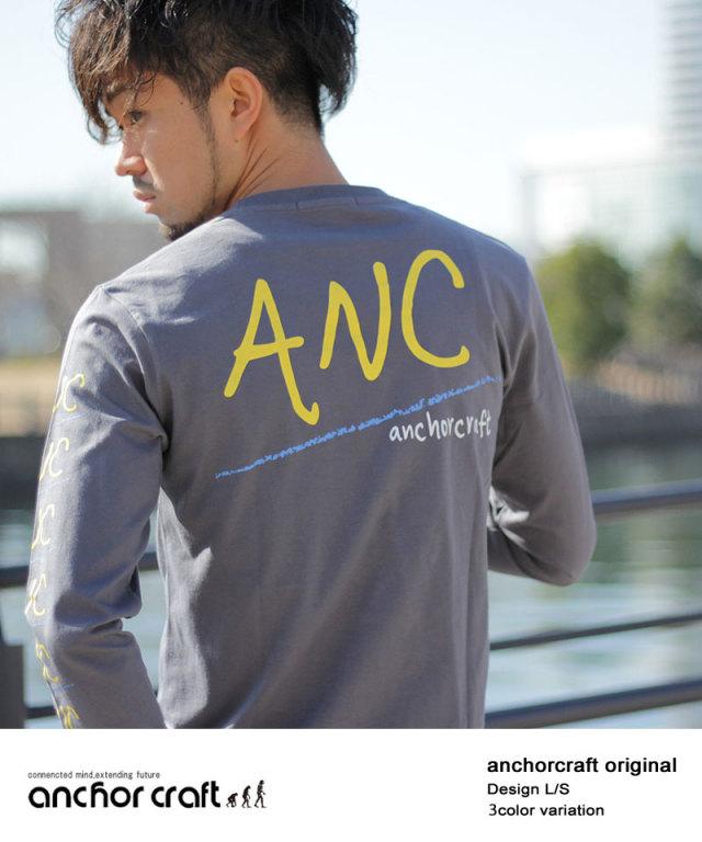袖&バック(ANC)ロゴプリントロンT