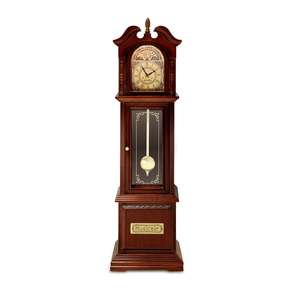 アンティークな木製アンティーク古時計 サンキョー YA217S