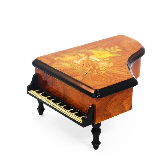 ピアノ型 象嵌 30弁 オルゴール ORPHEUS(オルフェウス)サンキョー