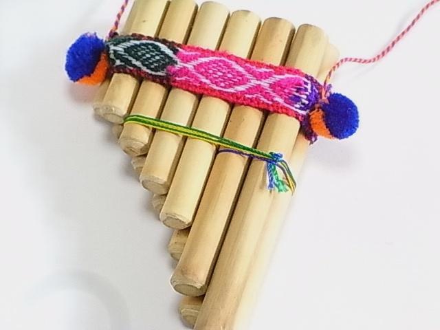 アンデスの民族楽器 ミニサンポーニャ