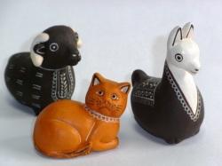 動物オカリナ ネコ、リャマ、ヒツジ