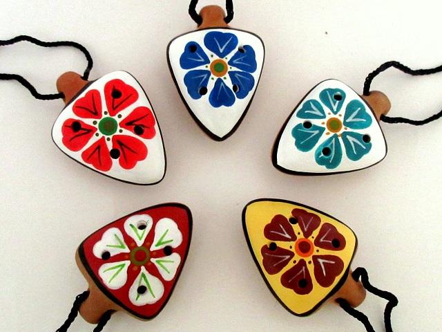 オカリナペンダント花