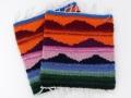 ペルー製手織りコースター アンデス・サンライズ