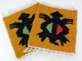 ペルー製手織りウールコースター カメ