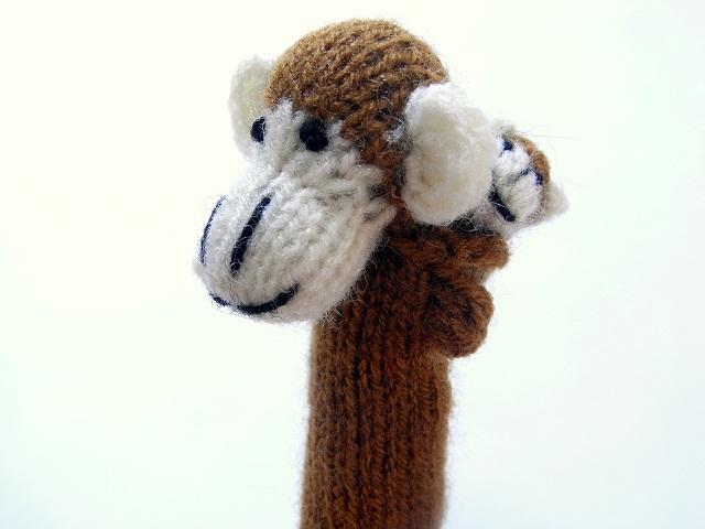 指人形 サルの親子