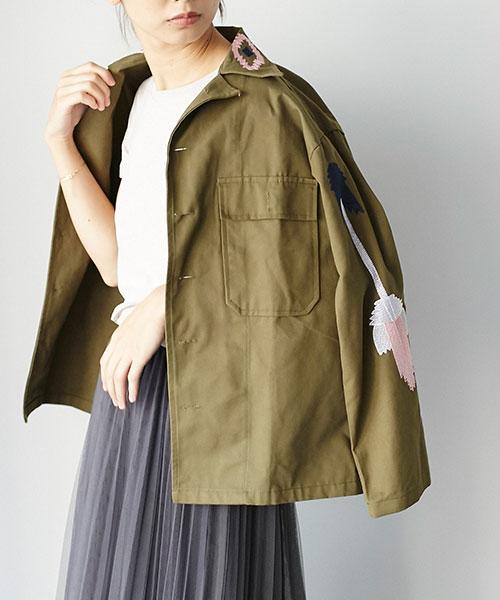 ミリタリー刺繍ジャケット 73-119543 *SALE品につき返品/交換/注文確定後の変更キャンセル不可*