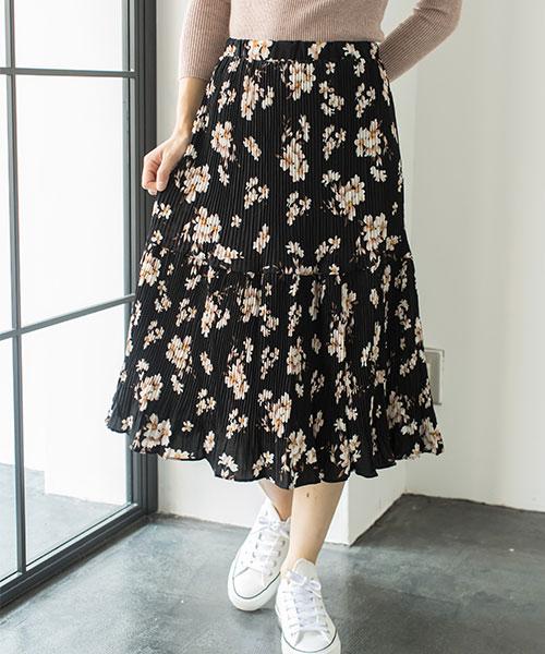 ビンテージ花柄スカート 73-120133