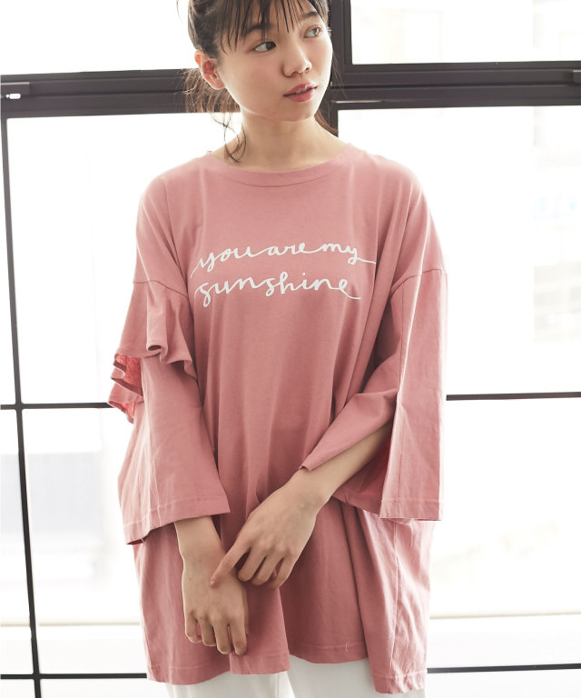 アシメフリルTシャツ 73-126818