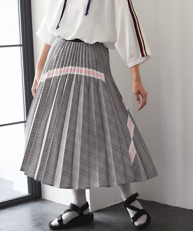 チェック×テープスカート 73-128852