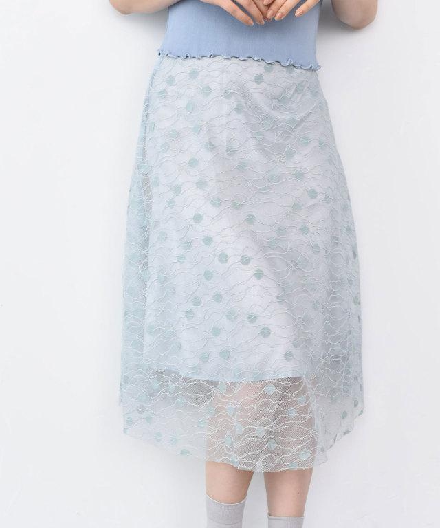 レーススカート 73-128874【SALE品につき返品/交換不可】