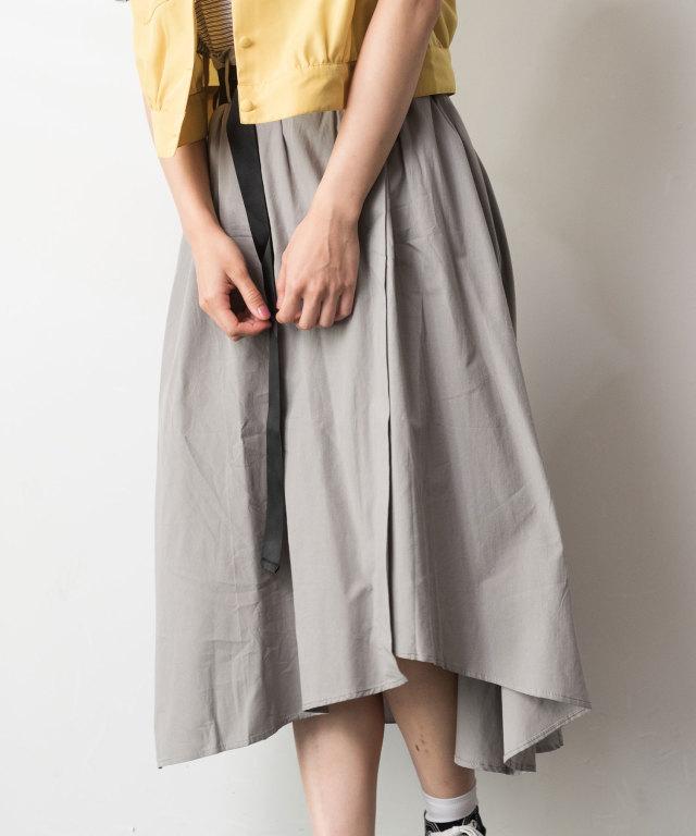 ベルト付きギャザースカート 73-128884