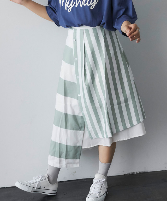 ランダムボーダースカート 73-128894
