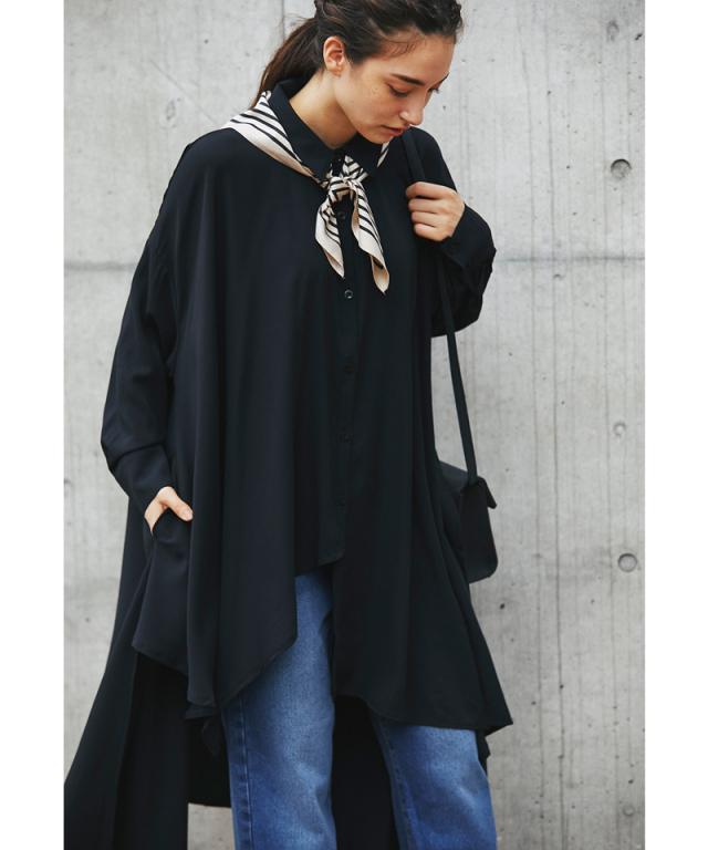 レイヤードロングシャツ176-142501