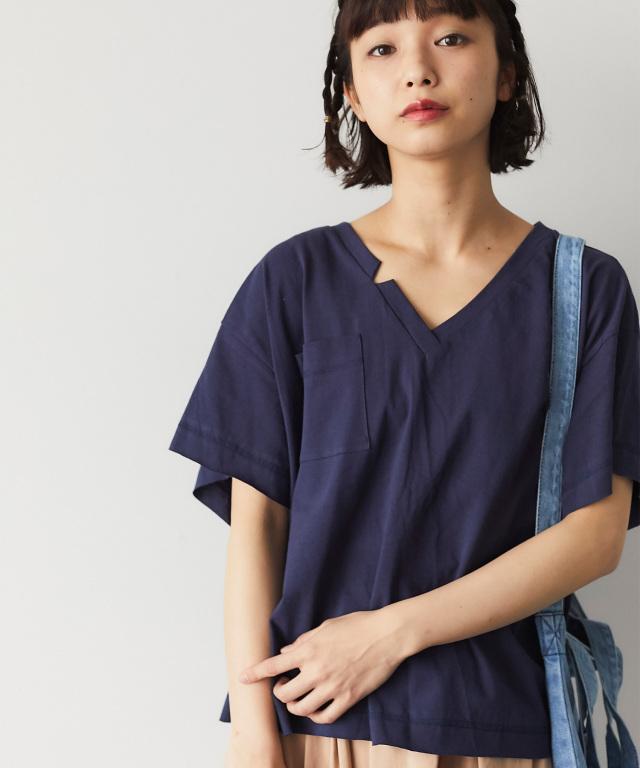 VネックポケットTシャツ 73-126797