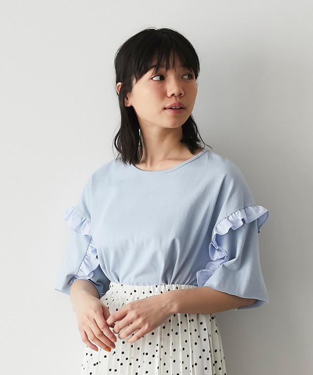 フリルスリーブTシャツ  73-126835