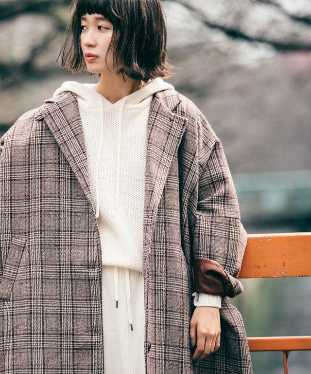 《12月28日再販決定》《柴田紗希さん着用》フードニットプルオーバー 73-128822