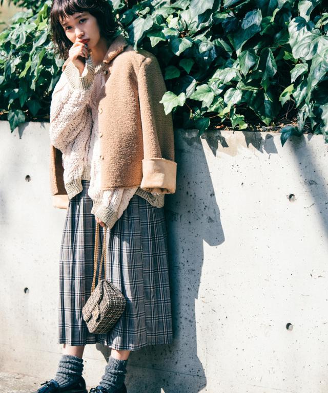 《柴田紗希さん着用》チェックプリーツスカート 73-131674