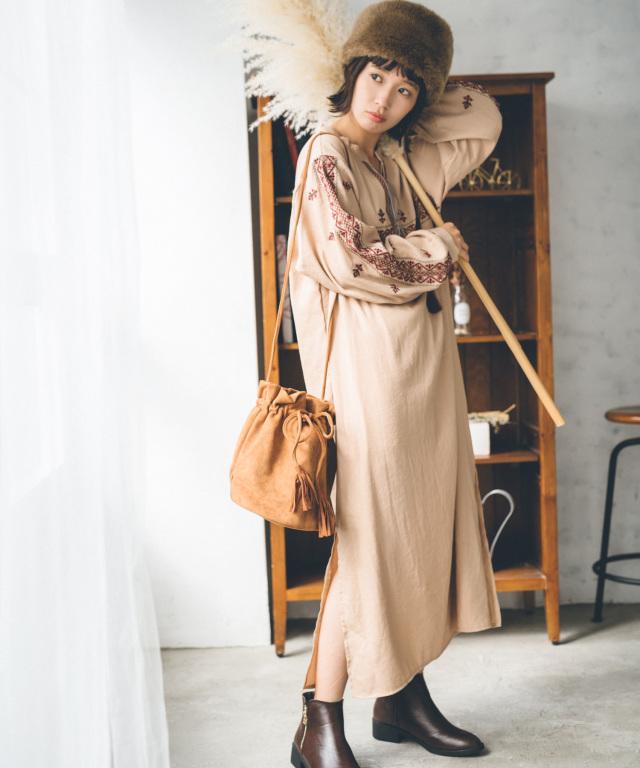 《柴田紗希さん着用》刺繍ワンピース 73-131798
