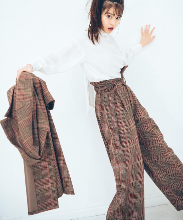 《今田美桜さんコラボ》ハイウエストワイドパンツ 73-132623