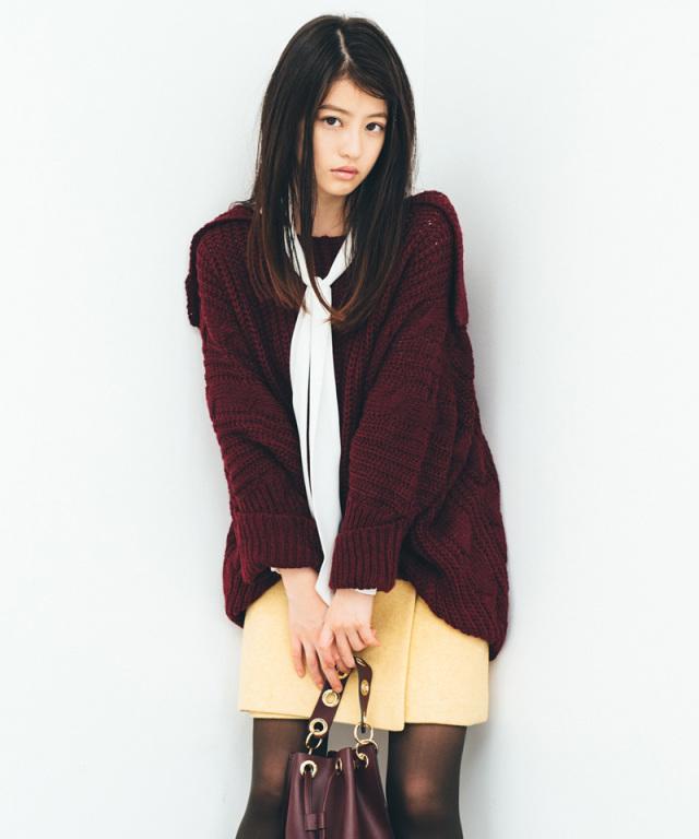 《今田美桜さん着用》ボタンミニスカート 73-133841