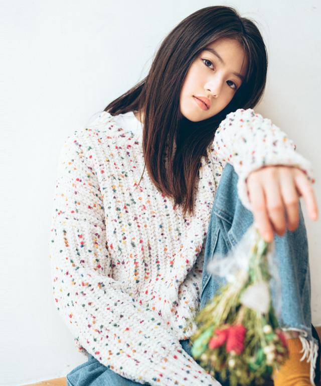 《12月28日再販決定》《今田美桜さん着用》カラフルモールニット 73-133870