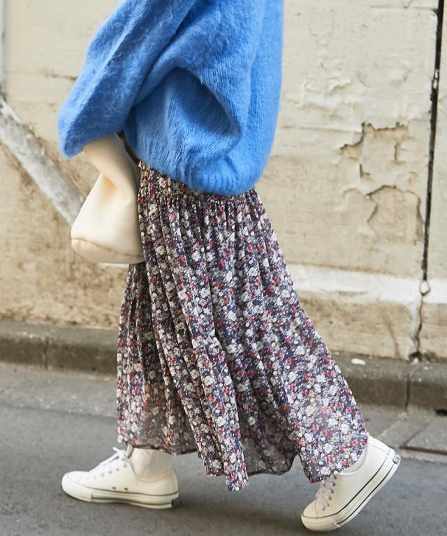 花柄ティアードスカート 73-134100