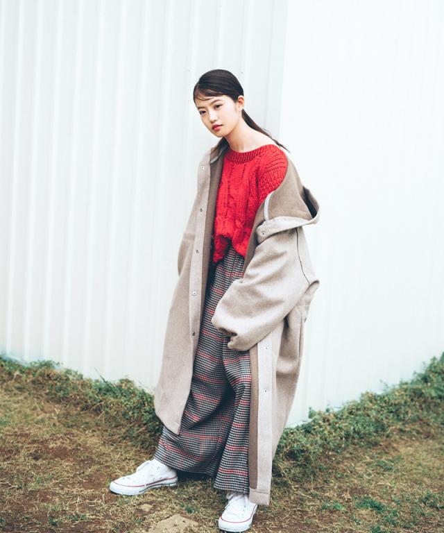 《今田美桜さん着用》サスペンダーチェックパンツ 73-134408