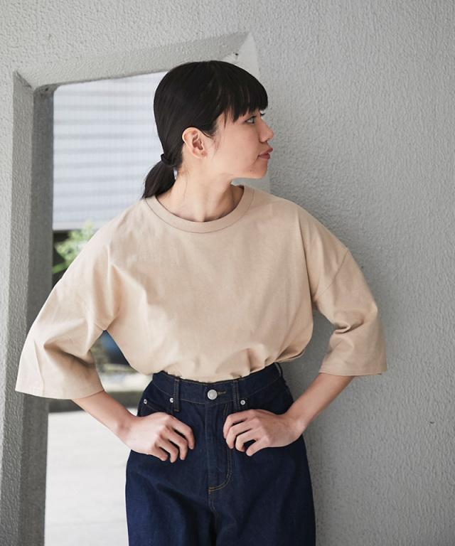 《4月15日再販決定》6分袖Tシャツ 73-136964