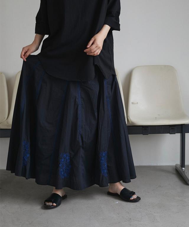 刺繍ロングスカート 73-139295