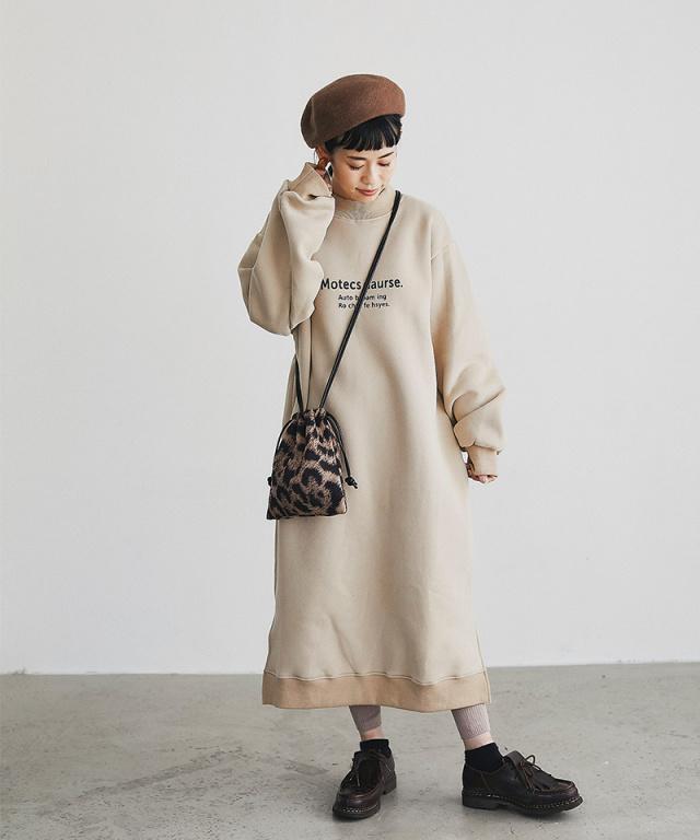 【@yuki_takahashi0706さんbuying item】裏起毛ロゴスウェットワンピース73-144260