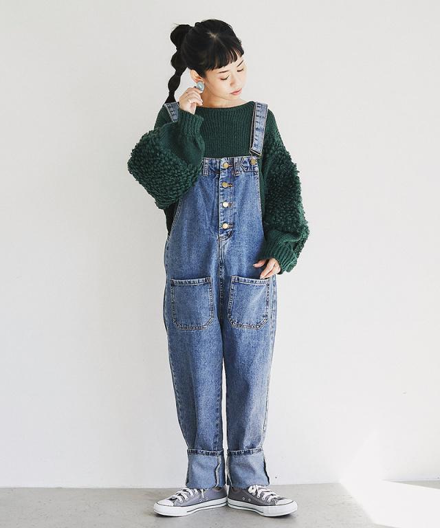 《2月7日 22:00再販決定》【@yuki_takahashi0706さんbuying item】デニムオーバーオール73-144261