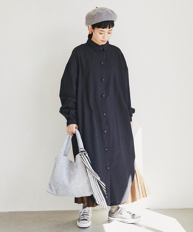 《12月28日 22:00再販決定》【@yuki_takahashi0706さんbuying item】ロングシャツワンピース73-144270
