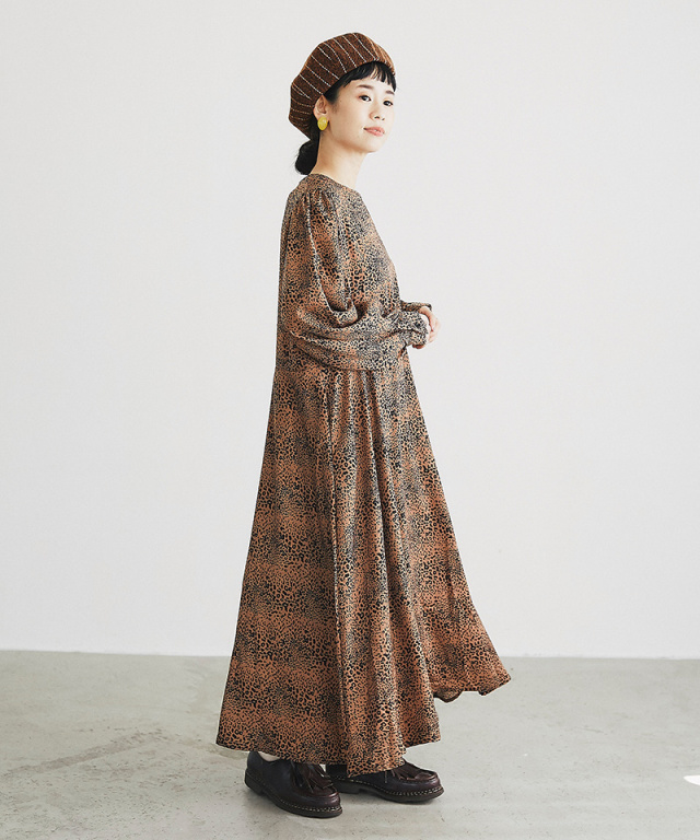 【@yuki_takahashi0706さんbuying item】レオパードワンピース73-144278