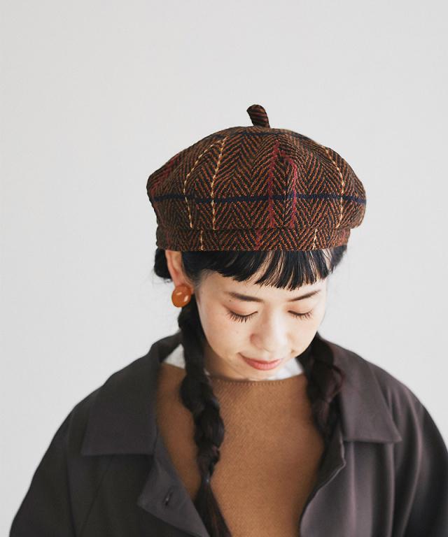 【@yuki_takahashi0706さんbuying item】チェックベレー帽73-144283