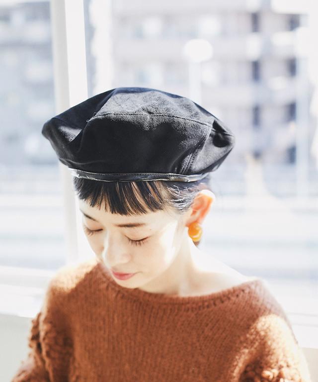 【@yuki_takahashi0706さんbuying item】フェイクレザーラインベレー帽73-144286