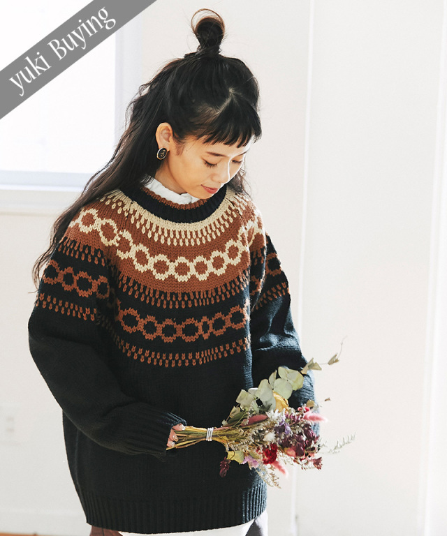 【@yuki_takahashi0706さんbuying item】ノルディック柄ニット73-145753