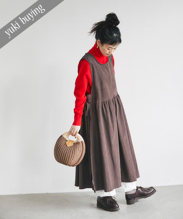 【@yuki_takahashi0706さんbuying item】サイドリボンエプロンワンピース73-145756