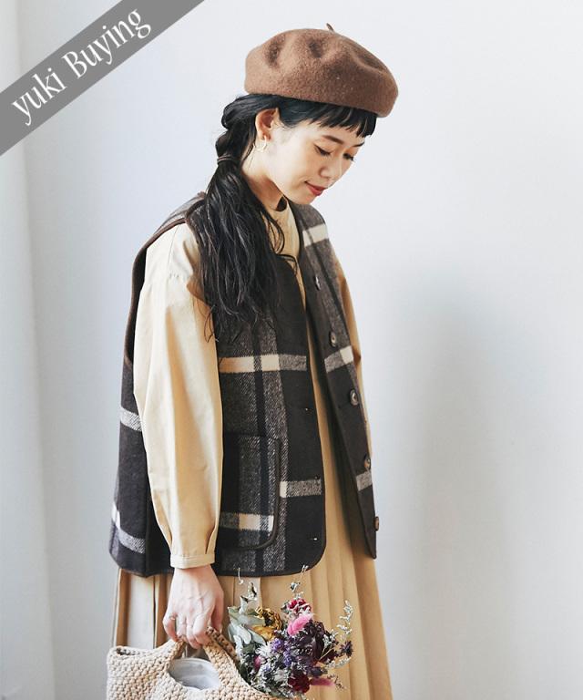 【@yuki_takahashi0706さんbuying item】チェック柄リバーシブルベスト73-145759