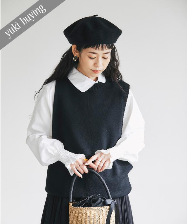 【@yuki_takahashi0706さんbuying item】アシンメトリーシャツ×ニットベストセット73-145784